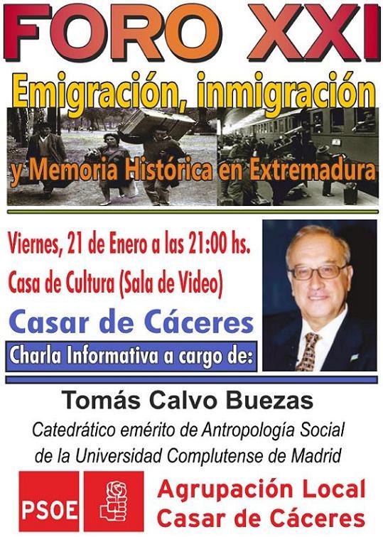 Emigración, Inmigración y Memoria Histórica en Extremadura