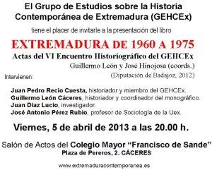 gehcex extremadura 1960-1975